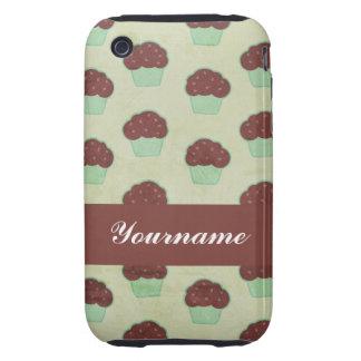 Custom Chocolate Cupcake iPhone 3 Tough Covers