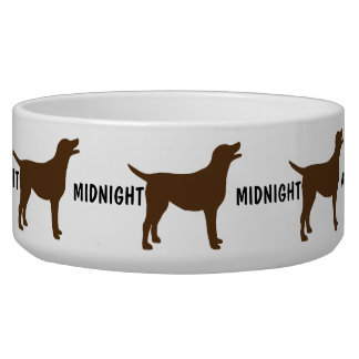 Custom Chocolate Lab Dog Bowl