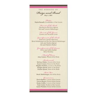 ::custom:: Chocolate/Pink Wedding Program_4 Card