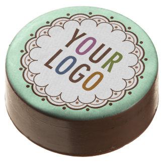 Custom Chocolate Promotional Cookies Company Logo