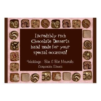 Custom Chocolate Sweet Shoppe Business Cards