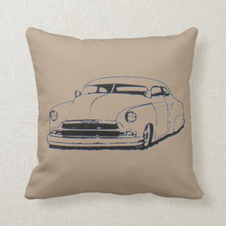 Custom chopped leadsled 1950's throw pillow