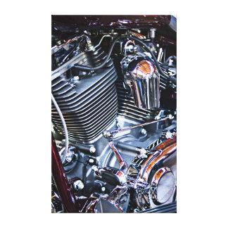Custom chopper engine canvas print