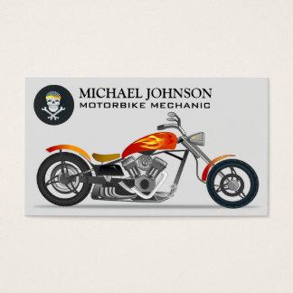 Custom Chopper   Motorbike   Motorcycle Repair Business Card