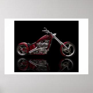 Custom Chopper Motorcycle Poster
