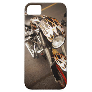 Custom Chopper with Flames iPhone 5 Cover