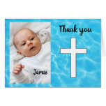 Custom Christening thank you Card