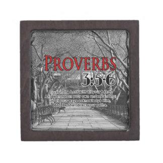 CUSTOM CHRISTIAN BIBLE VERSE PROVERBS 3:5-6 PREMIUM GIFT BOXES