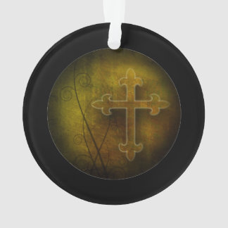 Custom Christian God Gift Cross Ornament