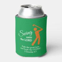Custom CHRISTIAN GOLFER Swing Unto The Lord IRISH Can Cooler