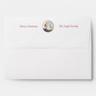 Custom Christmas Angel A7 Greeting Card Envelope