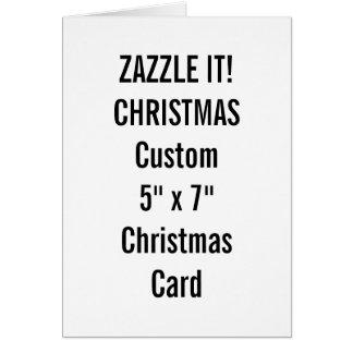 """Custom Christmas Card 5"""" x 7"""" Blank Template"""