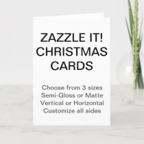 Custom Christmas Cards Blank Template
