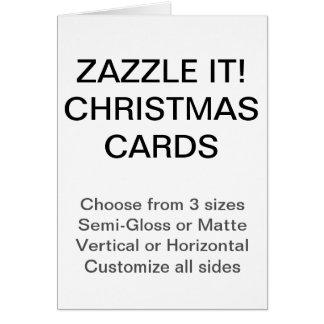 Custom Christmas Cards Blank Template