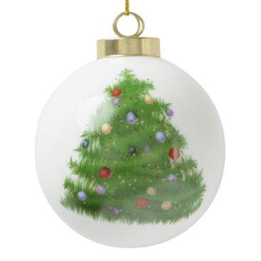 Christmas Themed Custom Christmas Ceramic Ball Ornament