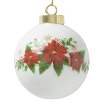 Custom Christmas Ceramic Ball Ornament. Ceramic Ball Christmas Ornament