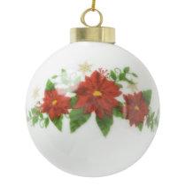Custom Christmas Ceramic Ball Ornament. Ceramic Ball Christmas Ornament