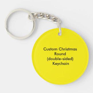 Custom Christmas Circle (double-sided) Keychain
