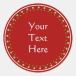Custom Christmas Classic Round Sticker