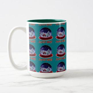 custom christmas coffe mugs with snow globes