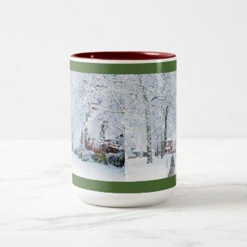 Custom Christmas Coffee Mug With Photo by creativeconceptss at Zazzle