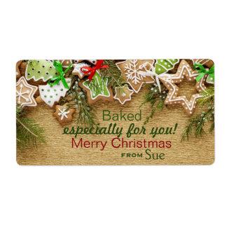Custom Christmas Cookie Gift Labels