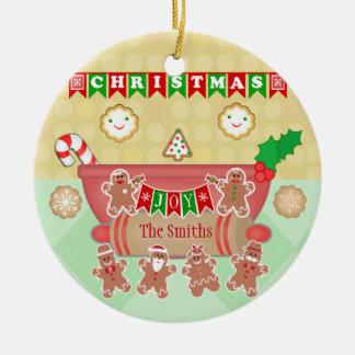 Custom Christmas Cookie Joy Round Ornament