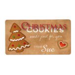 "Custom Christmas Cookies Just for You Labels<br><div class=""desc"">Christmas Cookie labels ready for customizing by YOU!  Create a fabulous presentation with these labels and raffia string for a simple bow.  Such classic holiday charm!</div>"