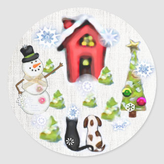 Custom Christmas Dog & Cat Gift Tag Stickers