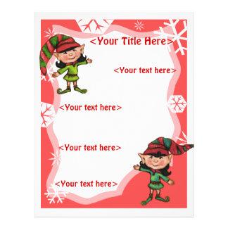 Custom Christmas Elves Business or Personal Flyer