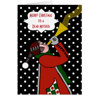 Custom Christmas for Mother, Trumpet Player, Snow Card