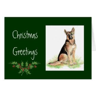 Custom Christmas German Shepherd, Dog, Pet  Animal Greeting Card