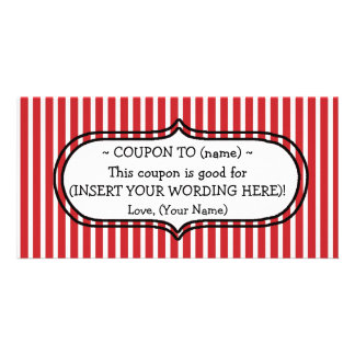 CUSTOM CHRISTMAS GIFT COUPON FOR MOM OR DAD PICTURE CARD