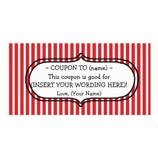 CUSTOM CHRISTMAS GIFT COUPON PERSONALIZED PHOTO CARD
