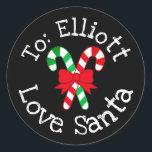 "Custom Christmas Gift From Santa Sticker Label<br><div class=""desc"">Custom Christmas Gift From Santa Sticker Label</div>"