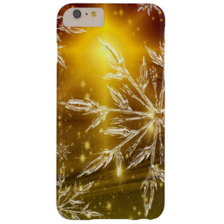 Custom Christmas Golden Snowflake iPhone Case. Barely There iPhone 6 Plus Case
