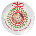 Custom Christmas Grandmother's Melamine Plate plate