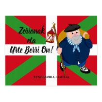 Custom Christmas greeting, Olentzero   Ikurriña: Postcard
