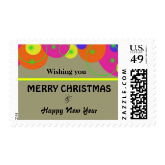 Custom Christmas Holiday & New Year Postage Stamp