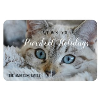 Custom Christmas Holidays Photo Magnet
