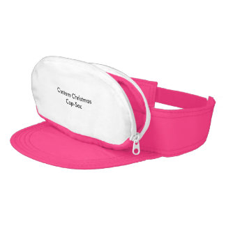 Custom Christmas Neon Pink Cap-Sac Visor