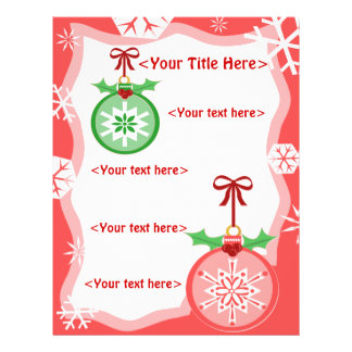 Custom Christmas Ornament Business or Personal Full Color Flyer