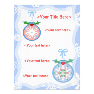 Custom Christmas Ornament Business or Personal Flyer