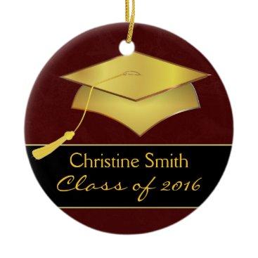 Christmas Themed Custom Christmas Ornament - Graduation Photo Gift