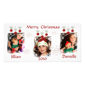 Custom Christmas Ornaments Photo Cards