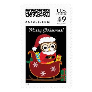 Custom Christmas Owl Stamp
