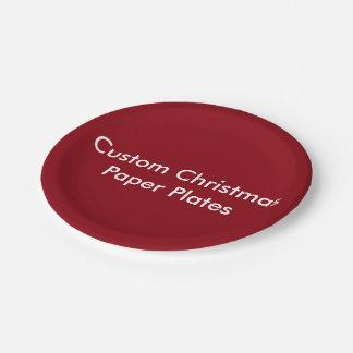 Custom Christmas  Paper Plates