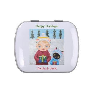 Custom Christmas Party Gift Favor Candy Tin
