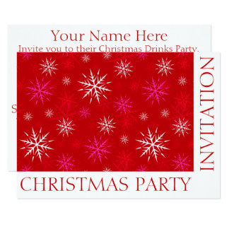 Custom Christmas Party Invitation Template Card II