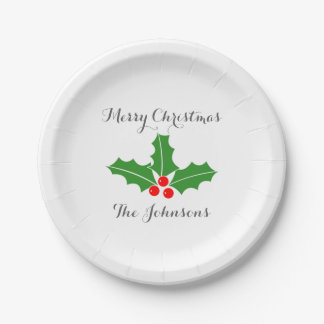 Custom Christmas party plates for the Holidays